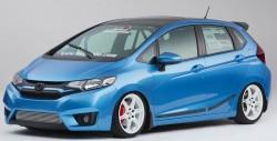 Представители Хонда привезла на автошоу SEMA 9 тюнингованных хэтчбеков Fit